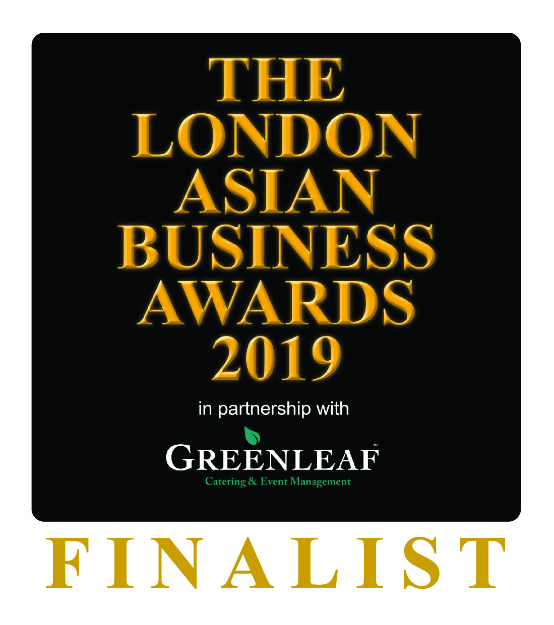 Finalist Logo - London Asian Business Awards 2019